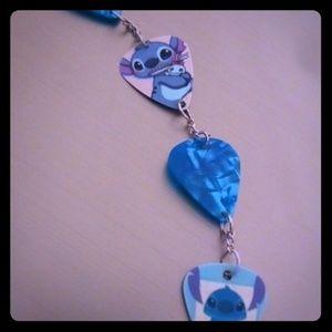 Stitch guitar pick bracelet